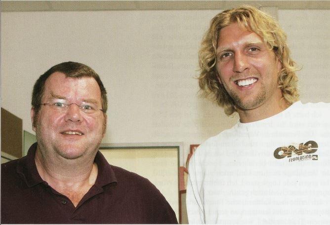 Dirk Nowitzki, großer Basketballer aus Würzburg