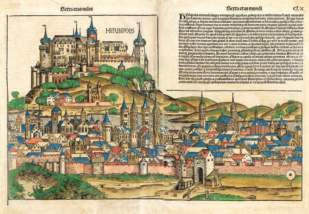 Stadtführungen in Würzburg; Herbipolis, die Kräuterstadt aus der Schedelschen Weltchronik