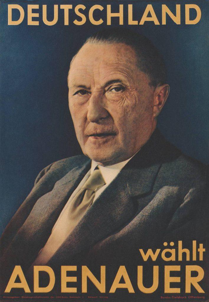 Konrad Adenauer, Wahlplakat von 1953