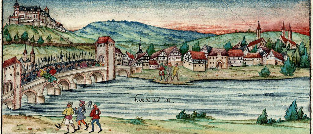1466, Fritz Hase, Alte Mainbrücke, Frieschronik