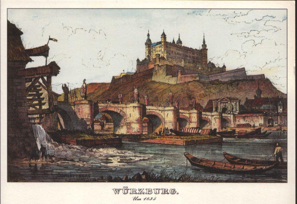 Alte Mainbrücke, Festung, Mainmühle