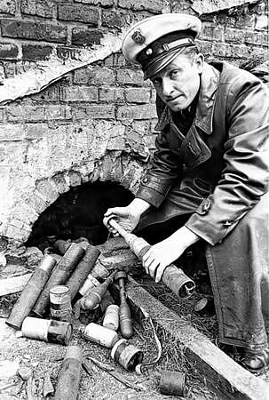 Hugo Graf, der Bomben-Hugo, im Jahr 1955