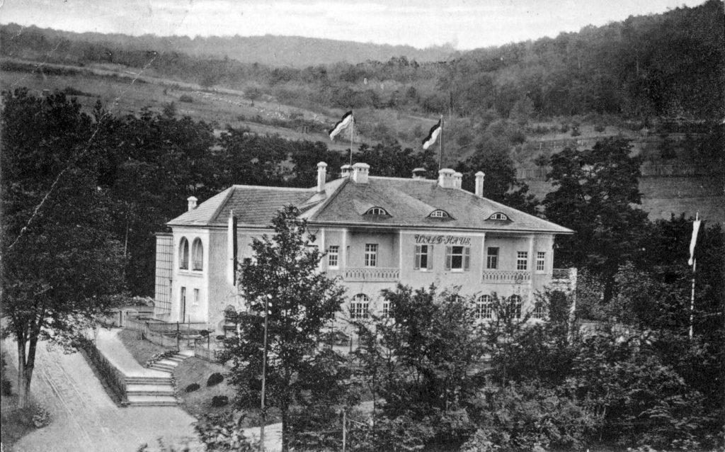 Das Waldhaus im Steinbachtal im Jahr 1913. (Foto: Archiv der Geschichtswerkstatt im Verschönerungsverein Würzburg)